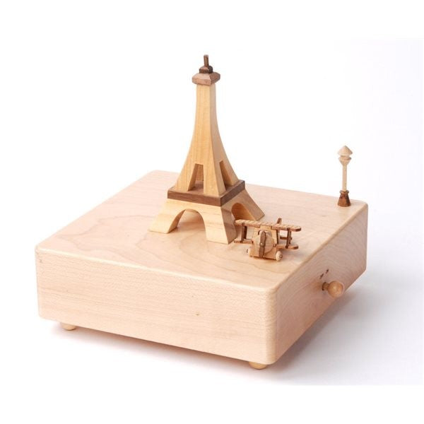 City Wooden Music Box-Eiffel Tower 1pc