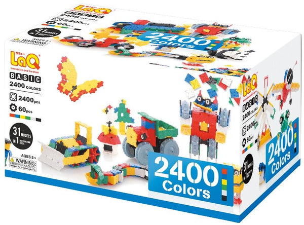 LaQ Puzzle BASIC 2400 COLORS - 31 MODELS, 2400 PIECES