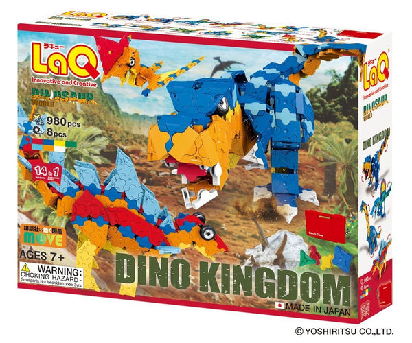LaQ DINOSAUR WORLD DINO KINGDOM - 14 MODELS, 980 PIECES