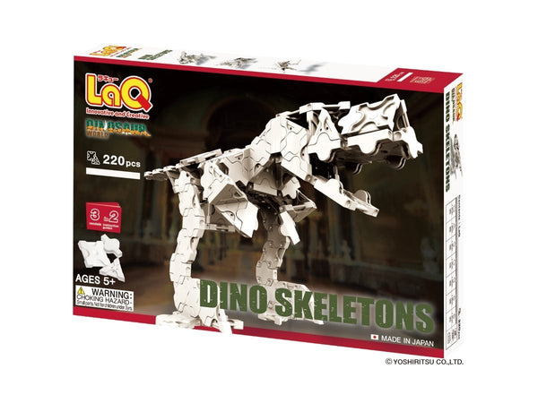 LaQ Puzzle DINOSAUR WORLD DINO SKELETON - 3 MODELS, 220 PIECES