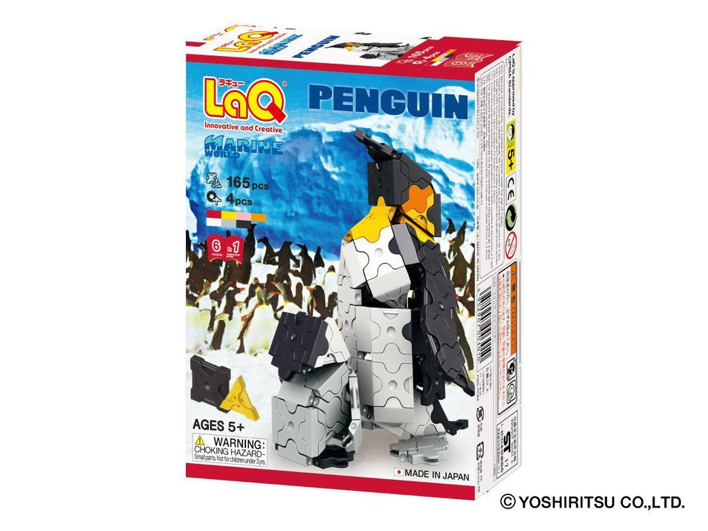 LaQ Puzzle MARINE WORLD PENGUIN - 6 MODELS, 169 PIECES