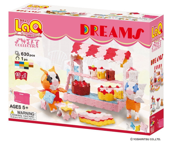 LaQ Puzzle SWEET COLLECTION DREAMS - 15 MODELS, 630 PIECES
