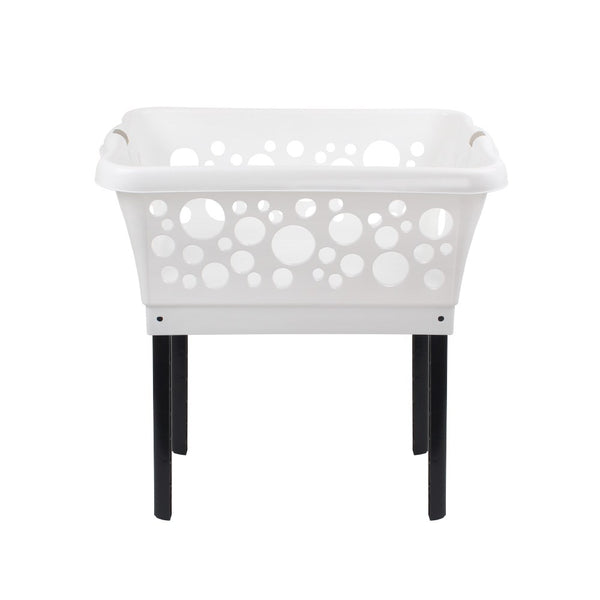 White Magic Laundry Basket On Legs