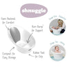 Shnuggle Baby Bath With Backrest & Bum Bump Support (White/Grey)