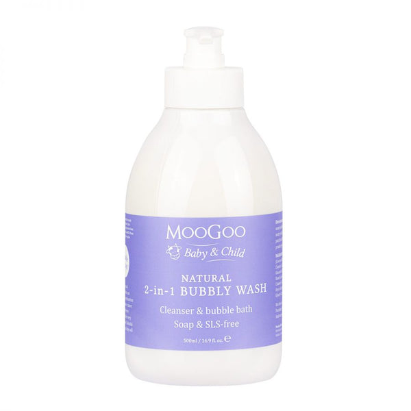 MooGoo Natural Mini Moo Bubbly Wash 1L