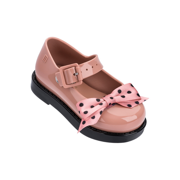 Mini Melissa Maggie Bow Tan Gloss (32440/51647) *Clearance*
