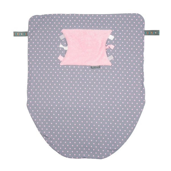 Cheeky Chompers Cheeky Blanket Polka Dot Pink