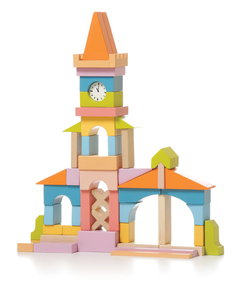 Cubika Wooden Town Hall 52pc