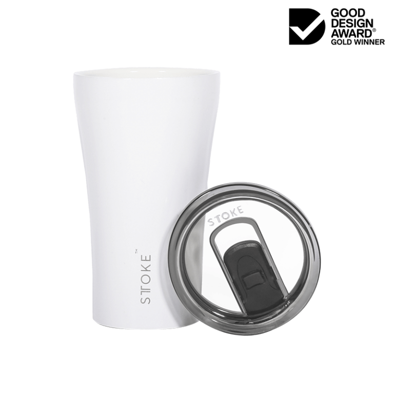STTOKE Ceramic Reusable Cup 12oz (354ml) - Angel White