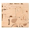 Petit Collage-Safari Wooden Aminal Puzzle