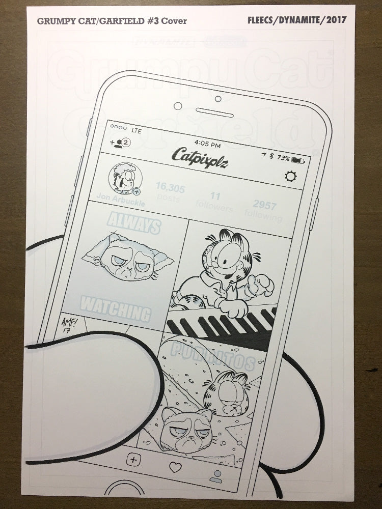 Grumpy Cat Garfield #3 - Cover
