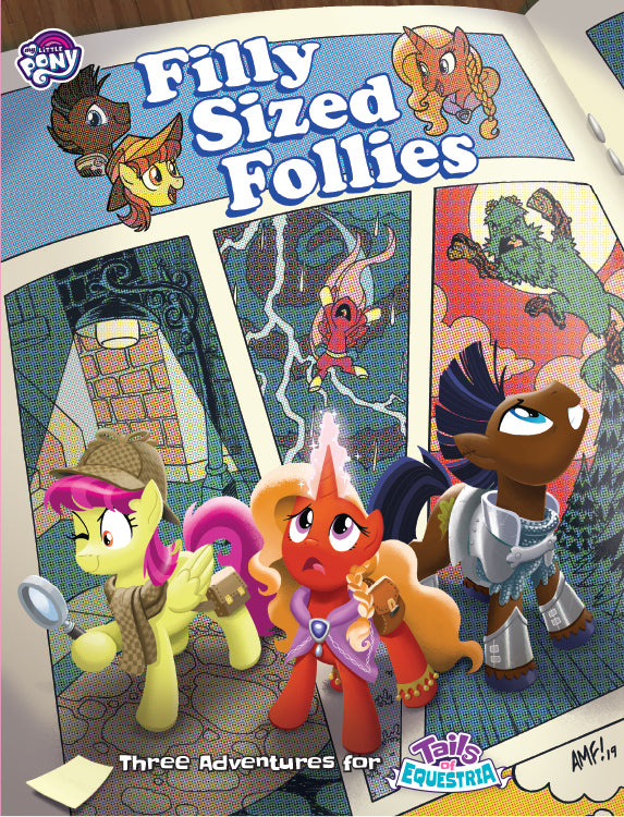 MLP Tails of Equestria: Filly Sized Follies - Cover