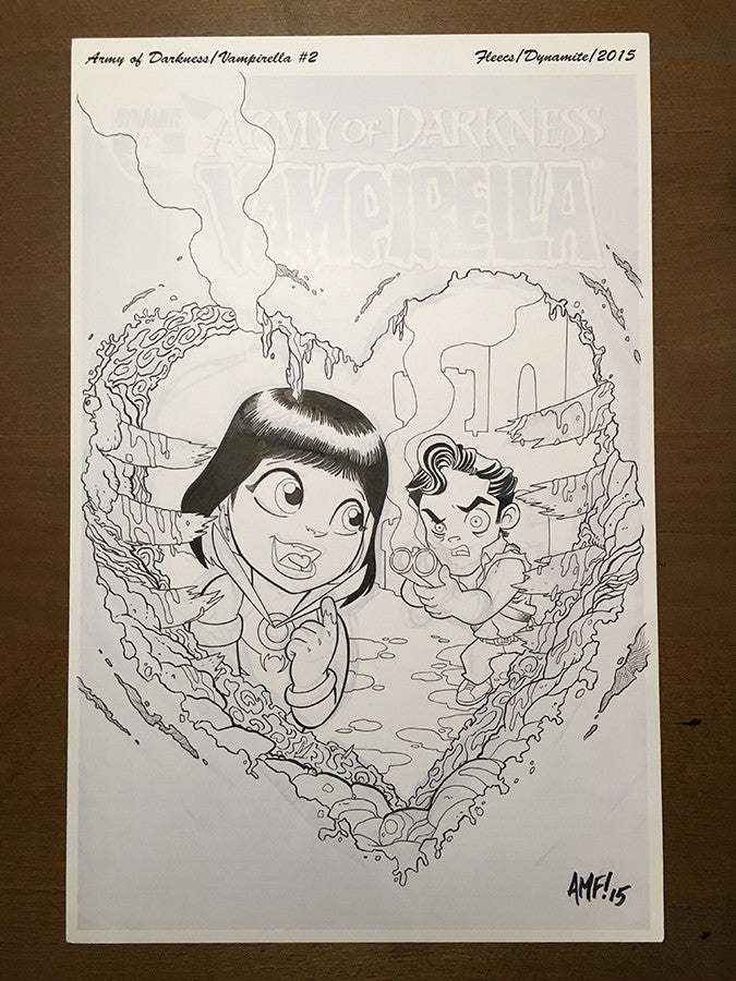 Army of Darkness/Vampirella #2 - Variant Cover