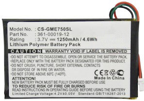 Garmin Nuvi 252W Battery