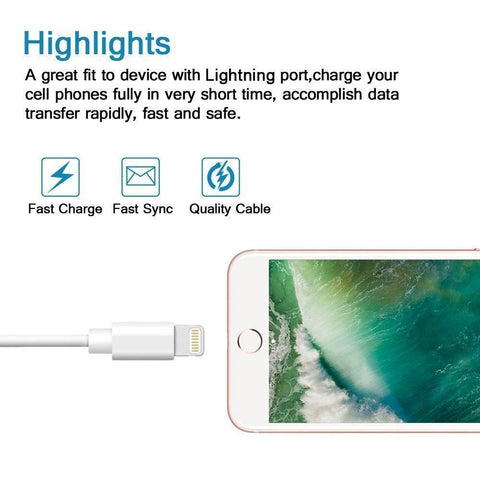Apple Lightning to USB Charging Cable (3 Feet)