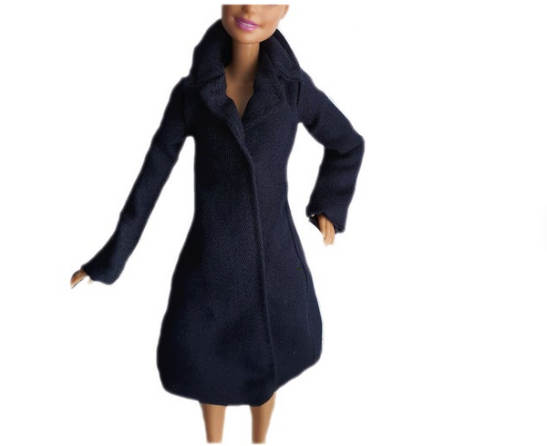 Navy Fashion Coat for 11.5 Inch Doll and Barbie Dolls
