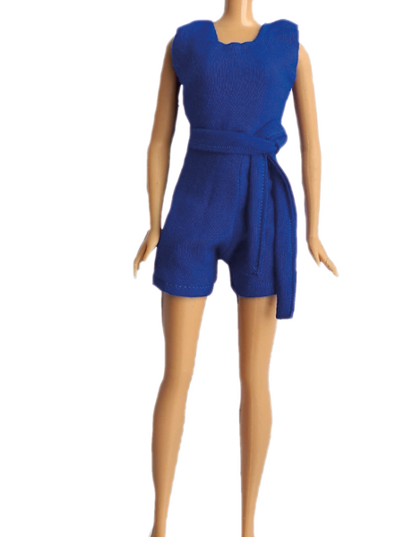 Royal Blue Jumpsuit with Tie for 11.5 Inch Fashion Dolls and Barbie