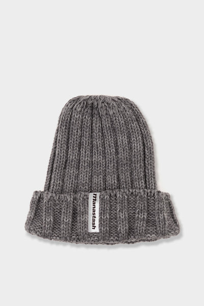 Manastash 90's Logo Beanie Oxford Grey