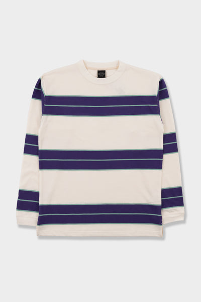 Manastash Aberdeen Border T-Shirt Off White