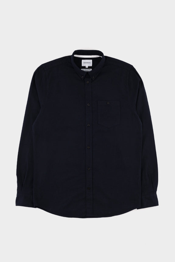 Norse Projects Anton Flannel - Dark Navy