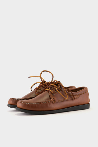 Quoddy Blucher Charcoal Camp Sole - Whiskey Charcoal