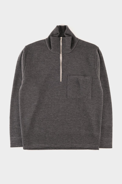 Country Of Origin Merino Q.Zip Grey