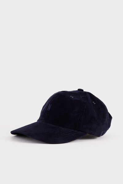 Norse Projects Baby Corduroy Sports Cap - Dark Navy