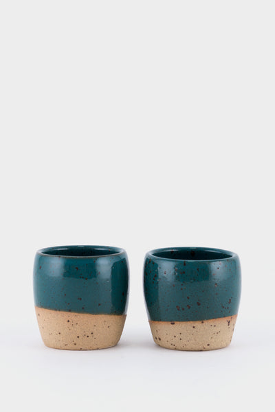 Dor & Tan 3oz Espresso Cups - Marran Green Speckle