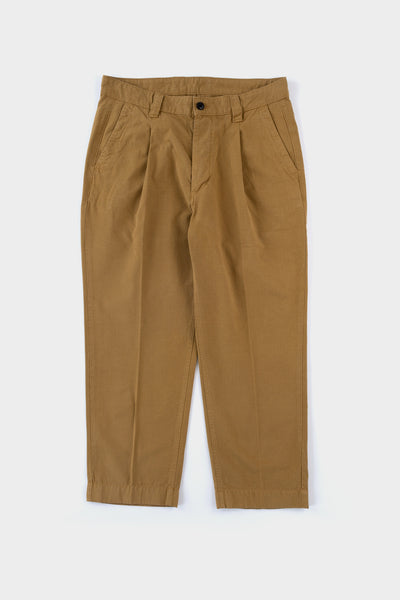 Albam Gd Ripstop Pleated Trousers - Tobacco