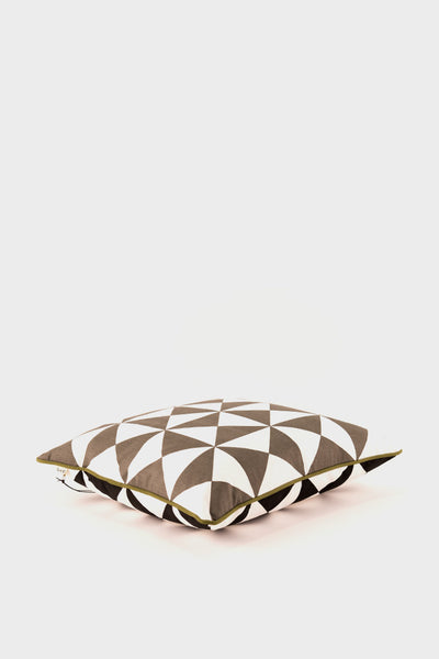 Ferm Living Large Geometry Cushion: Grey -  - 1