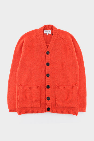 Albam High V Cardigan Orange