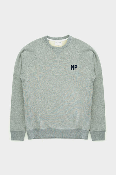 Norse Projects Ketel Crew Embroidery Logo Sweat Light Grey