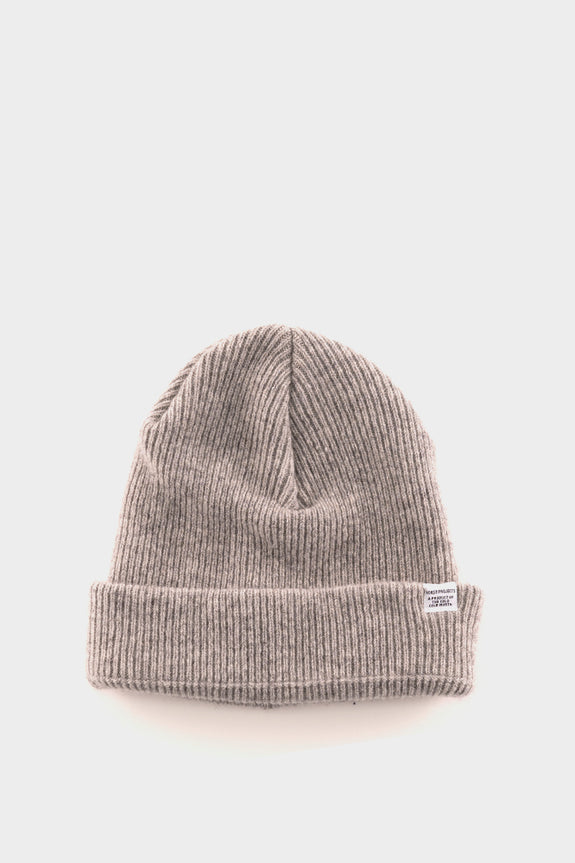 Norse Projects Beanie Light Grey
