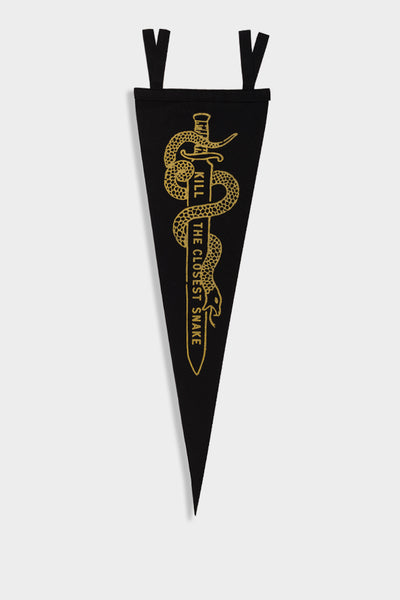 Oxford Pennant - Kill the Closest Snake Black / Gold