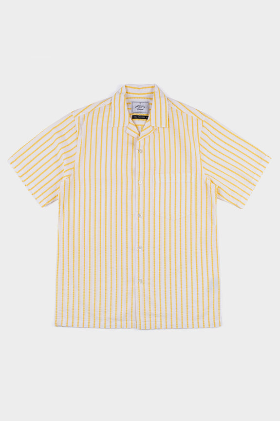 Portuguese Flannel Rayures Vacation Shirt Ecru Yellow