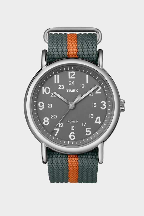 Timex Weekender Stripe Grey/Orange -