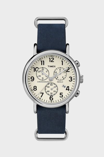Timex Weekender Chrono/Blue/Leather -