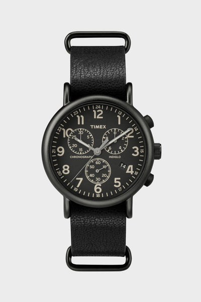Timex Weekender Chrono/Black/Leather -