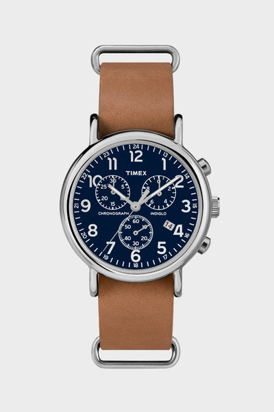 Timex Weekender Chrono/Tan/Leather -