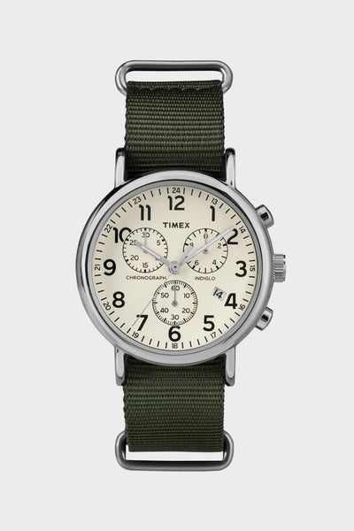 Timex Weekender Chrono/Olive Green -