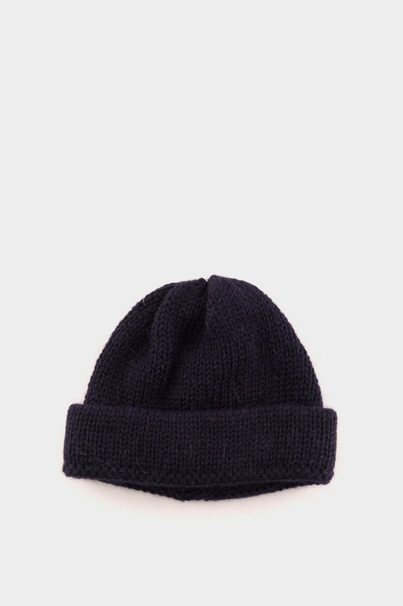 Universal Works Short Watch Cap Wool Navy