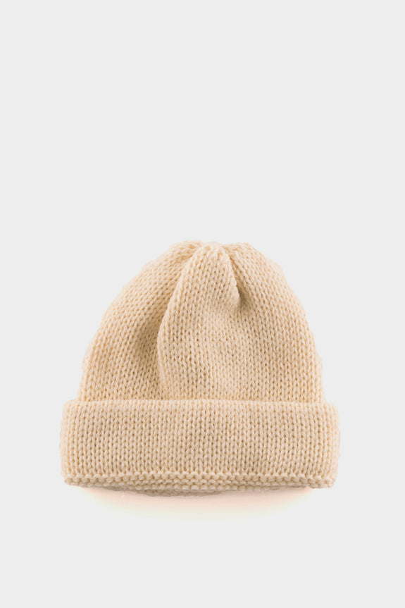 Universal Works Short Watch Cap Wool Aran