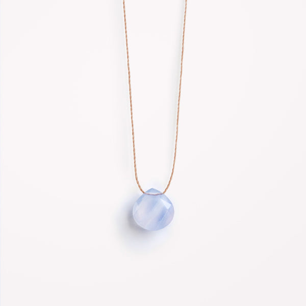 "Wanderlust Life 18"" Necklace Blue Lace Agate"