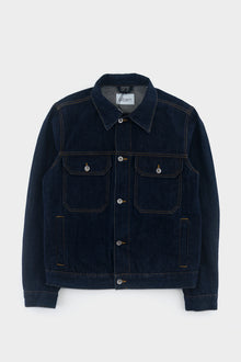 Albam Japanese Denim Utility Jacket Navy