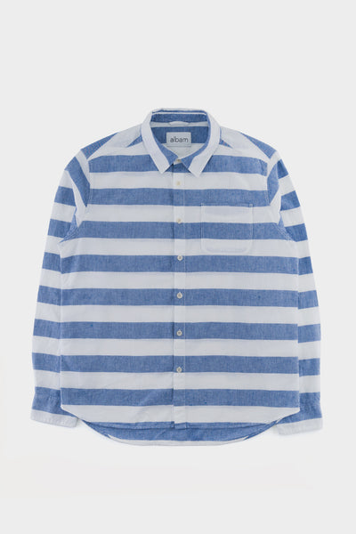 Albam Hockney Shirt Stripe Blue White
