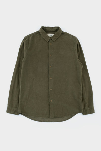 Folk Baby Cord Shirt Soft Green