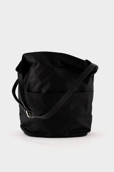 Ally Capellino Lloyd Waxed Cotton Bucket Bag - Black