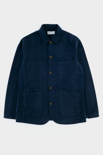 Universal Works Bakers Jacket Canvas - Navy