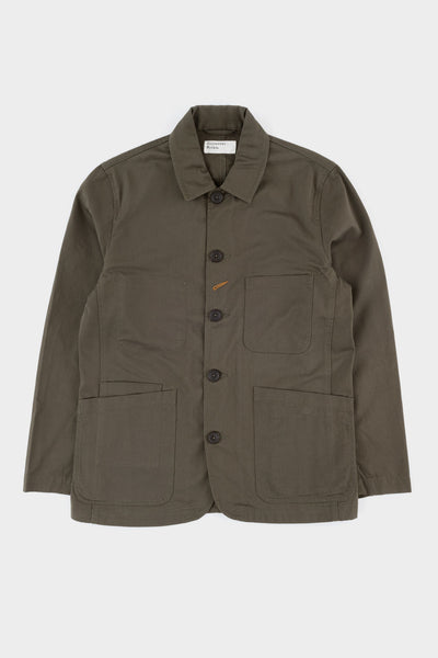 Universal Works Bakers Jacket Olive Twill