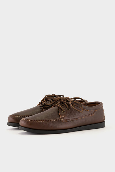 Quoddy Blucher Charcoal Camp Sole - Brown